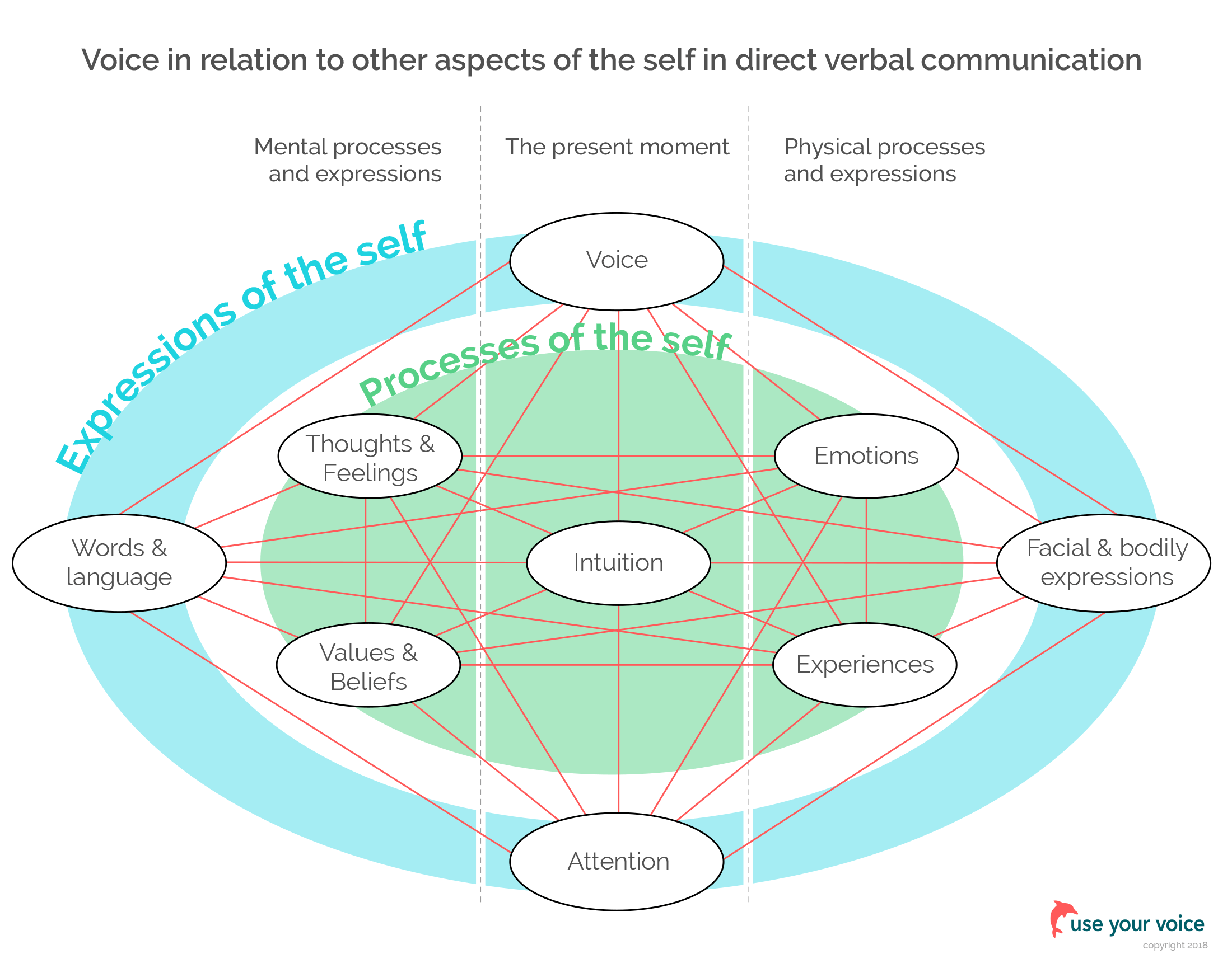voice in relations to other aspects of the self in direct verbal communication